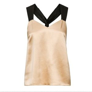 H&M champagne silk top
